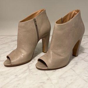 Maison Margiela Leather peep-toe boots